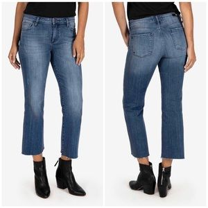 KUT Kelsey High Rise Ankle Flare Jeans
